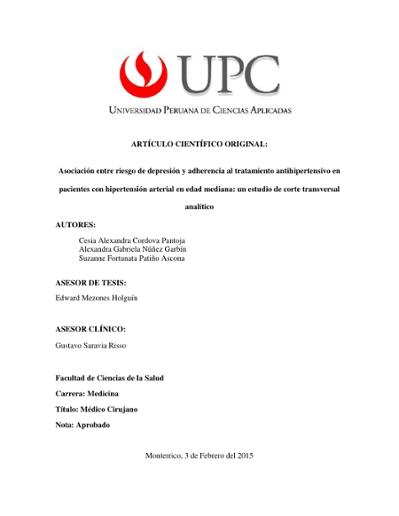 Fisiopatologia hipertension arterial resumen en